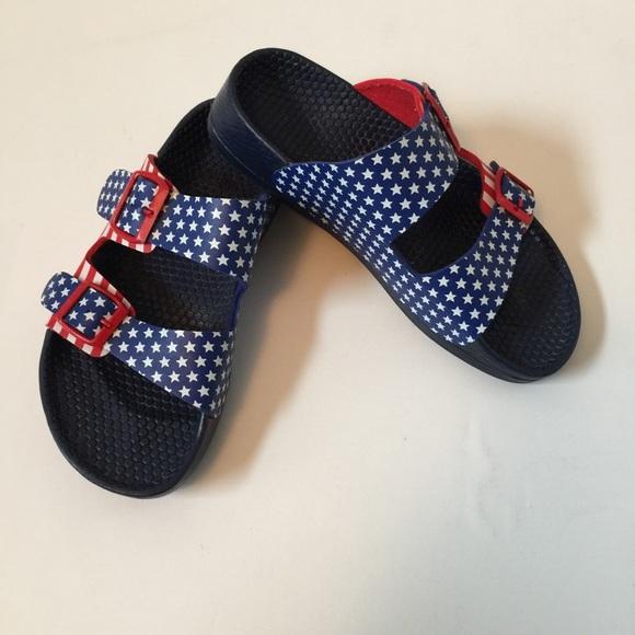 Birkenstock ShoesBirkis Blue Stars Red SandalsPoshmark White WEH9YD2I